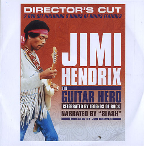 Jimi Hendrix The Guitar Hero 2013 UK promo DVD-R DVD-R