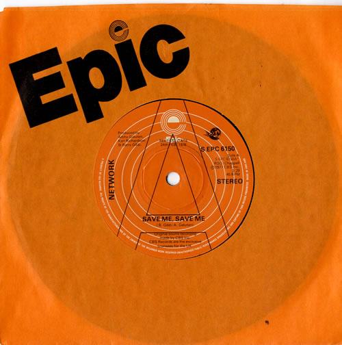 Network Save Me Save Me 1978 UK 7 vinyl SEPC6150