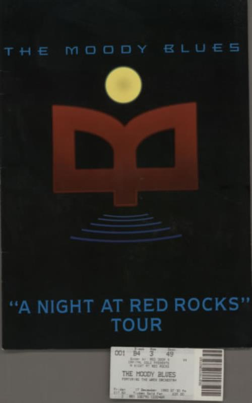Moody Blues A Night At Red Rocks Tour Programme 1993 UK tour programme TOUR PROGRAMME