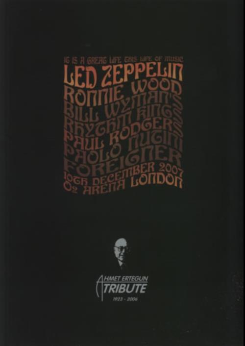 Led Zeppelin LED ZEPPELIN It Is A Great Life  Black Small 2007 UK memorabilia PROGRAMME & TSHIRT