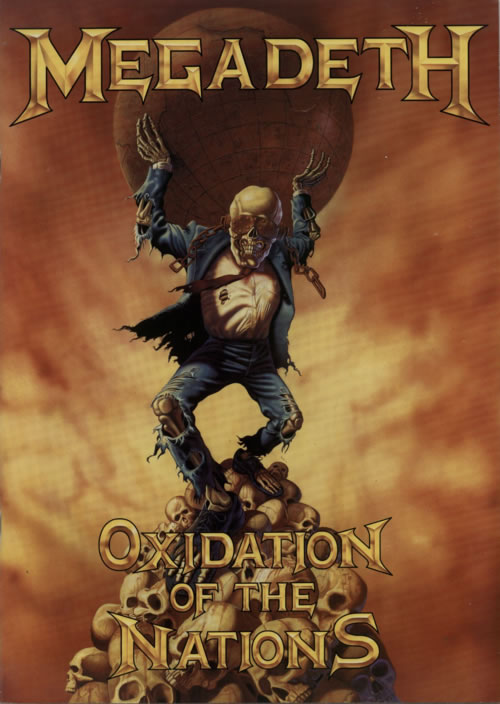 Megadeth Oxidation Of The Nations  Ticket Stub 1991 UK tour programme TOUR PROG