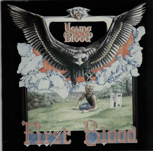 Young Blood (80S) First Blood 1984 UK 12 vinyl LANDT1