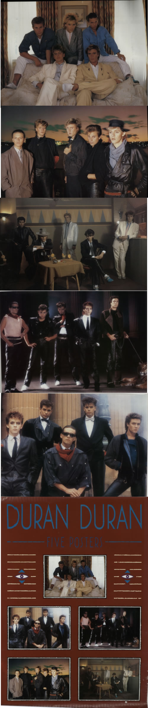 Duran Duran Five Posters Studio Shots 1984 UK poster POSTER SET