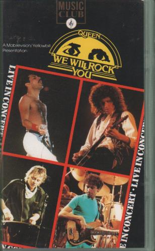 Queen We Will Rock You 1989 UK video MC2032