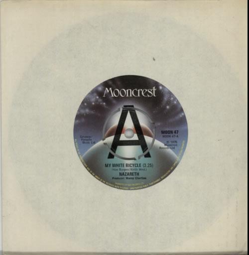 Nazareth My White Bicycle  A Label 1975 UK 7 vinyl MOON47
