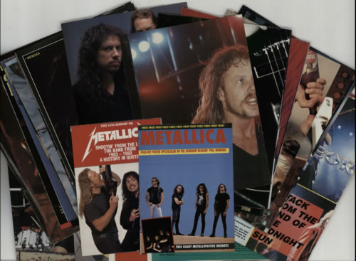 Metallica Quantity of Magazine Cuttings & Posters UK memorabilia CUTTINGS & POSTERS