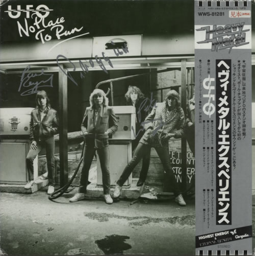 UFO - No Place To Run - Autographed