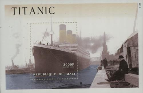 RMS Titanic Titanic Commemorative 2000F Sheetlet 2012 UK memorabilia COMMEMORATIVE STAMP