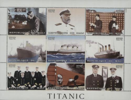 RMS Titanic Titanic Commemorative Plate Block 2012 UK memorabilia COMMEMORATIVE STAMPS
