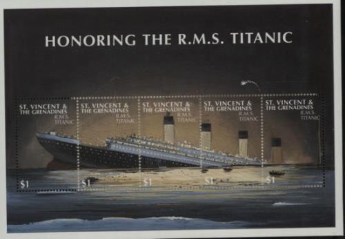 RMS Titanic Honoring The R.M.S. Titanic 2012 UK memorabilia COMMEMORATIVE STAMPS