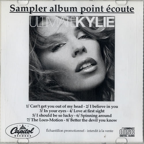 Kylie Minogue Ultimate Kylie 2004 French CDR acetate CDR