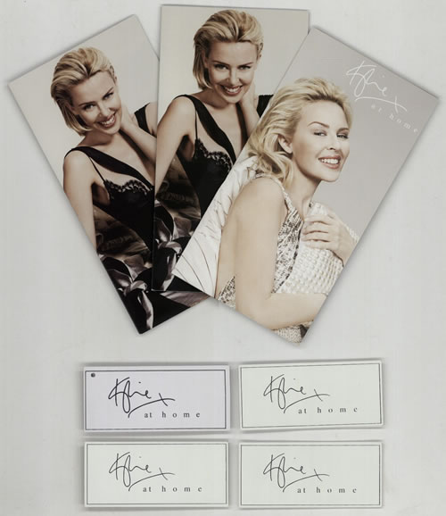 Kylie Minogue Kylie At Home 2008 UK memorabilia BROCHURES