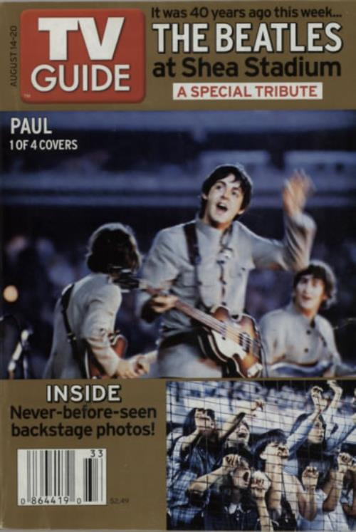 The Beatles TV Guide  Pair 2005 USA magazine AUG 1420NOV 1117