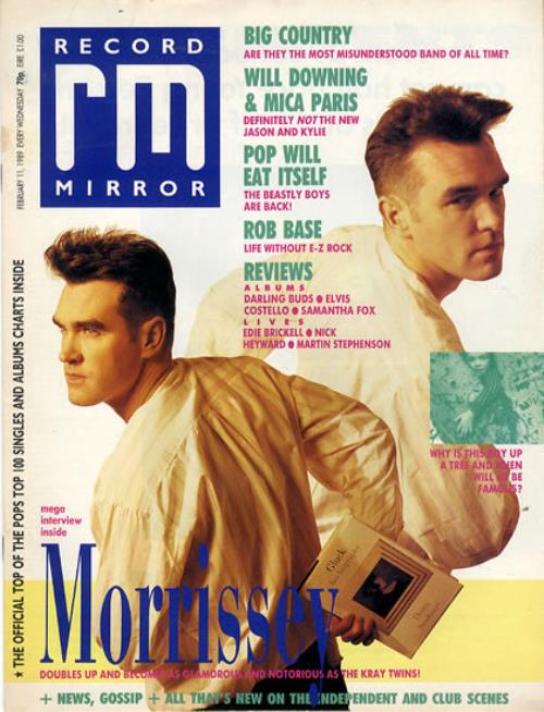 Morrissey Record Mirror 1989 UK magazine 11 FEBRUARY 1989