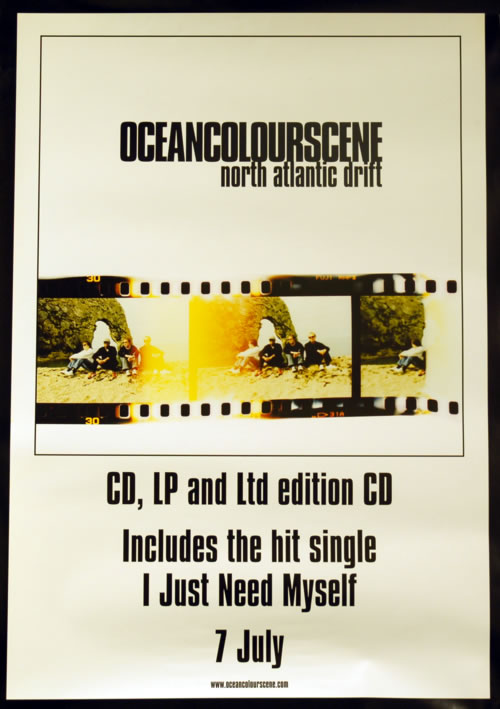 Ocean Colour Scene North Atlantic Drift 2003 UK poster 20 X 28