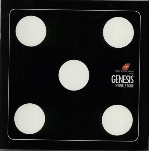 Genesis Invisible Tour  Pass 1987 UK tour programme PROGRAMME  TICKET