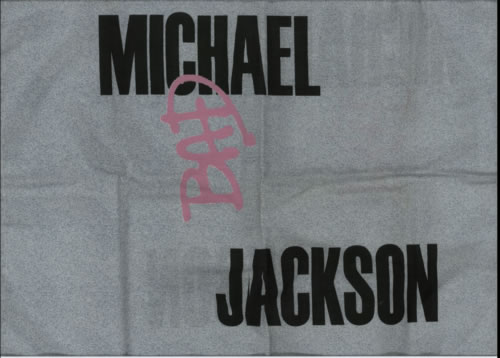 Michael Jackson Bad  Pillow case 1987 UK memorabilia PILLOW CASE