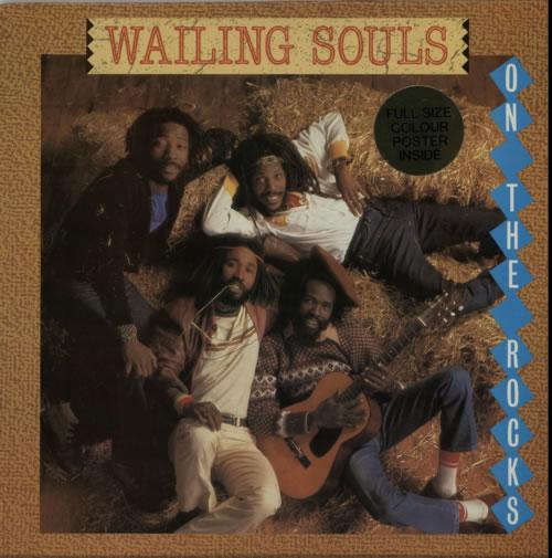 Image of Wailing Souls On The Rocks + Poster 1983 UK vinyl LP GREL59