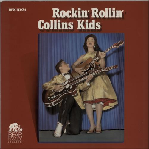 The Collins Kids Rockin Rollin Collins Kids 1981 German vinyl LP LSP15180
