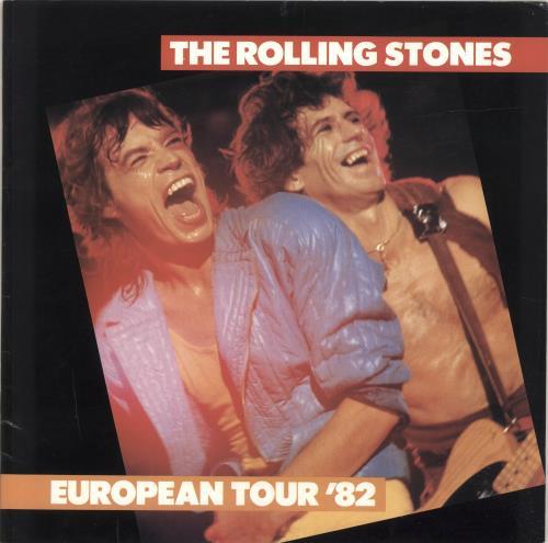 Rolling Stones European Tour 82  Ticket Stubs 1982 UK tour programme TOUR PROGRAMME