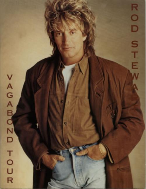 Rod Stewart Vagabond Tour  Two ticket stub 1991 UK tour programme TOUR PROGRAM