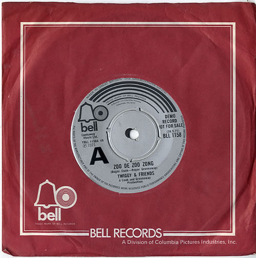 Twiggy Zoo De Zoo Zong 1971 UK 7 vinyl BLL1158