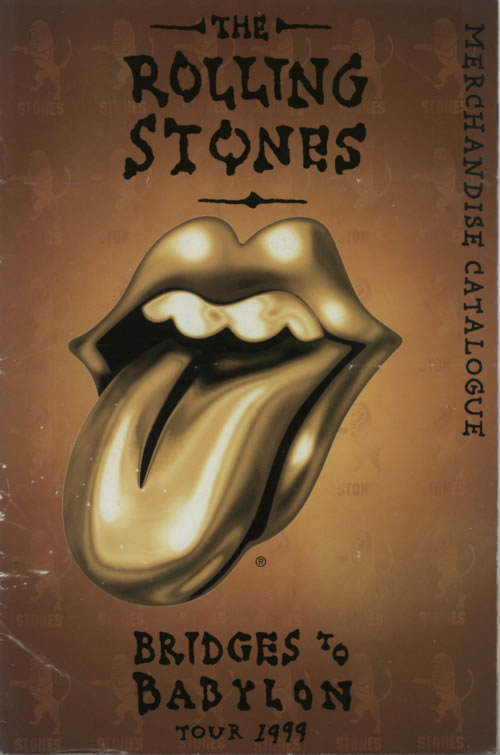 Rolling Stones Bridges To Babylon Tour  Tickets & Merchandise Catalogue 1999 UK memorabilia TICKETS & CATALOGUE