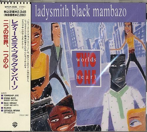 Ladysmith Black Mambazo Two Worlds One Heart  Sealed 1990 Japanese CD album WPCP3506