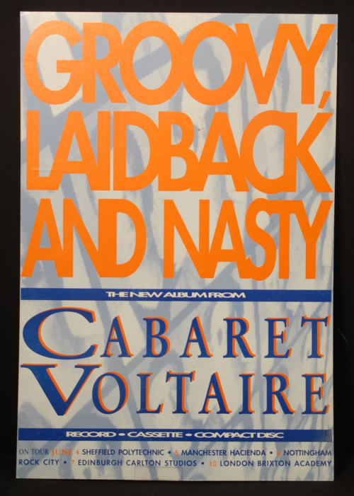 Cabaret Voltaire Groovy Laid Back & Nasty 1990 UK display PROMO DISPLAY