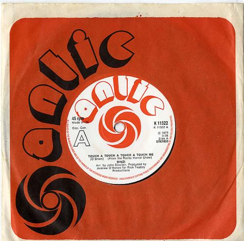 Binzi Touch A Touch A Touch A Touch Me 1975 UK 7 vinyl K11522