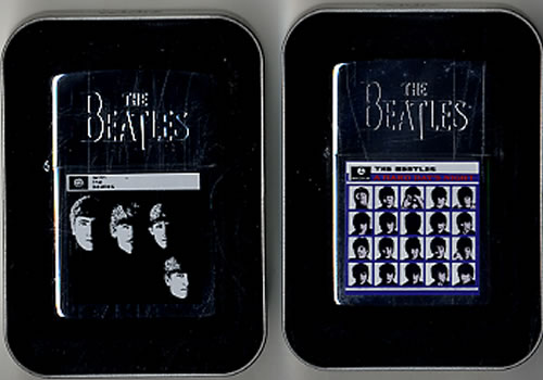 The Beatles Pair of Zippo Lighters 1996 USA memorabilia TWO LIGHTERS