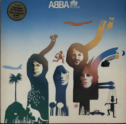 Abba ABBA The Album  Hype Stickered 1977 UK vinyl LP EPC86052