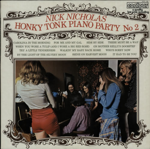 Nick Nicholas Honky Tonk Piano Party 2 1972 UK vinyl LP 2870166