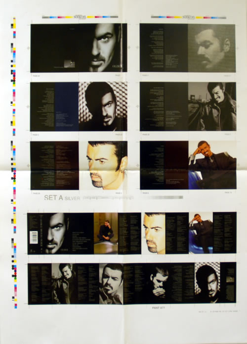 George Michael Older  Two Sheets Of Proof Artwork 1996 UK artwork ARTWORK 25 X 36