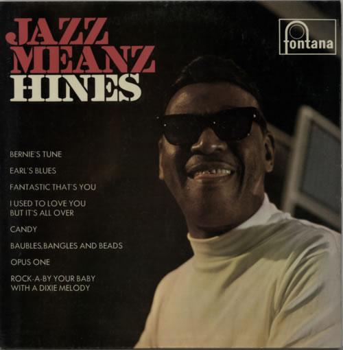 Earl Hines Jazz Meanz Hines! 1967 UK vinyl LP TL5378