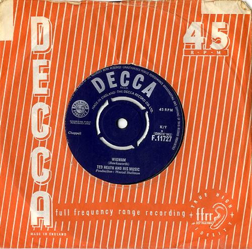 Ted Heath Wigwam 1963 UK 7 vinyl F.11727