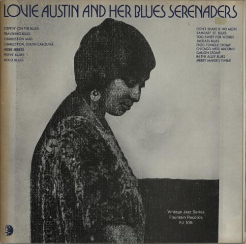Lovie Austin Lovie Austin And Her Blues Serenaders 1972 UK vinyl LP FJ105
