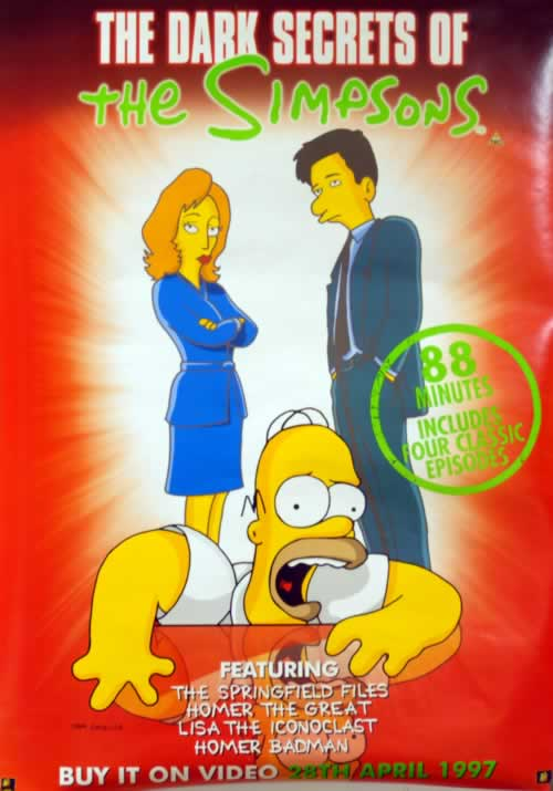 The Simpsons The Dark Secrets Of The Simpsons 1997 UK poster 20X28