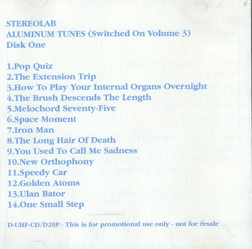 Stereolab Aluminium Tunes (Switched On Volume 3) 1998 UK 2CD album set DUHFCDD2021P
