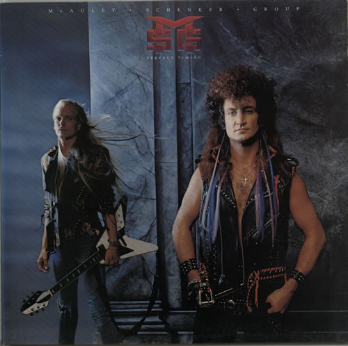 Image of McAuley Schenker Group Perfect Timing 1987 German vinyl LP 1C064-7483461DMM