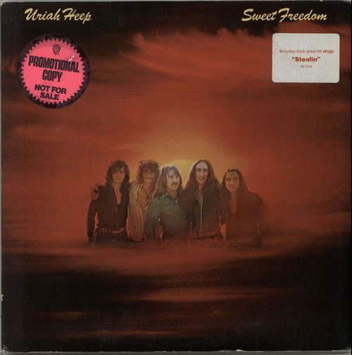 Uriah Heep Sweet Freedom  press kit 1973 USA vinyl LP BS2724