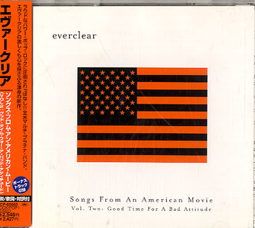 Everclear Songs From An American Movie Vol 2 2001 Japanese CD album TOCP65660
