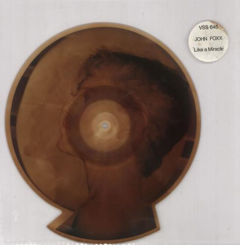John Foxx Like A Miracle 1983 UK shaped picture disc VSS645