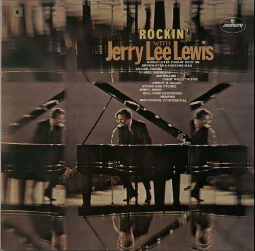 Jerry Lee Lewis Rockin With Jerry Lee Lewis 1972 UK vinyl LP 6336300