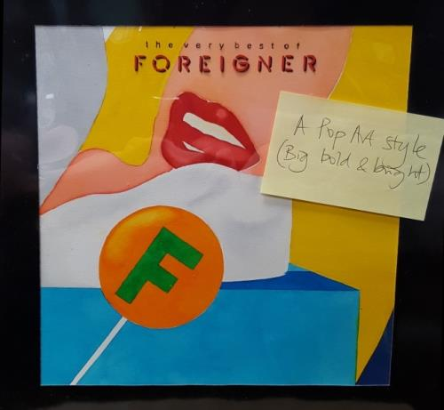 Foreigner The Very Best Of Foreigner 1992 UK artwork ARTWORK