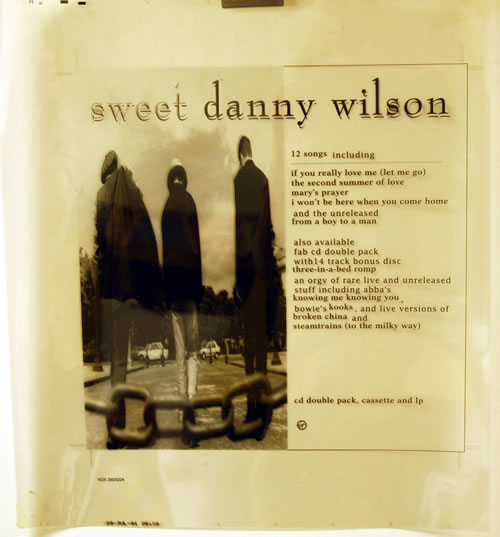 Danny Wilson Sweet Danny Wilson 1991 UK artwork ARTWORK FILM SHEETS