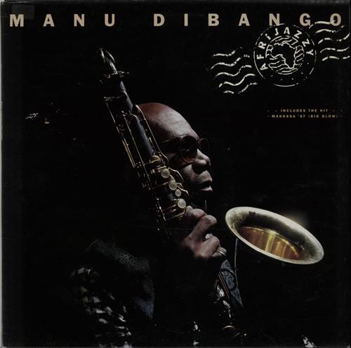 Image of Manu Dibango Afrijazzy 1988 UK vinyl LP URBLP1