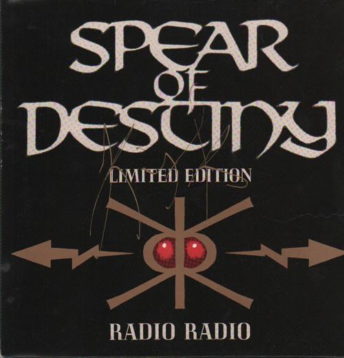Spear Of Destiny Radio Radio  Autographed 1988 UK 7 vinyl VSG114