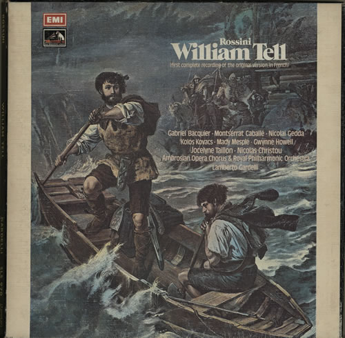 Gioacchino Rossini William Tell 1973 UK vinyl box set SLS970