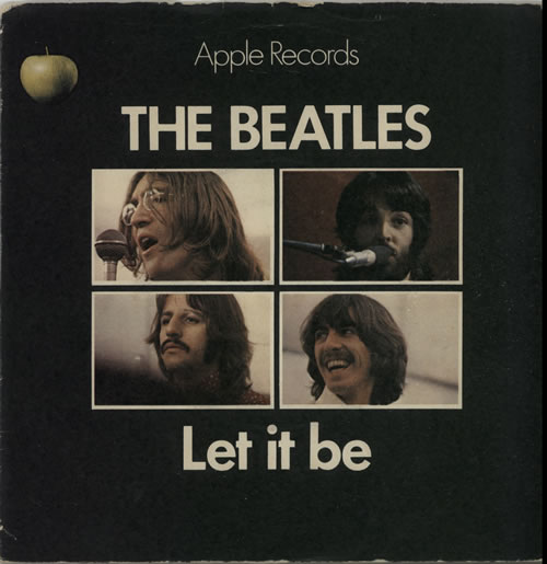 The Beatles Let It Be  1st  Solid  PS  VG 1970 UK 7 vinyl R5833